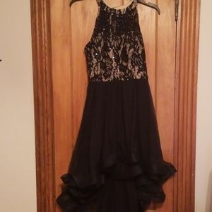 Gorgeous navy blue high low dress, Speechless, 7